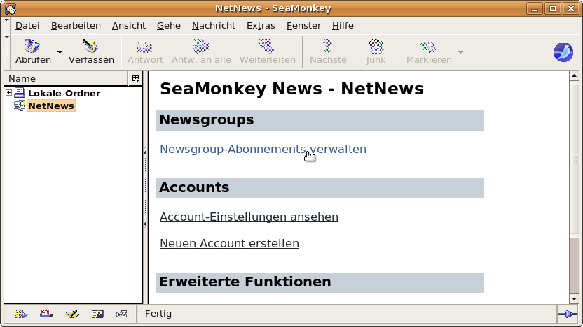 Newsgroup-Abonnements verwalten